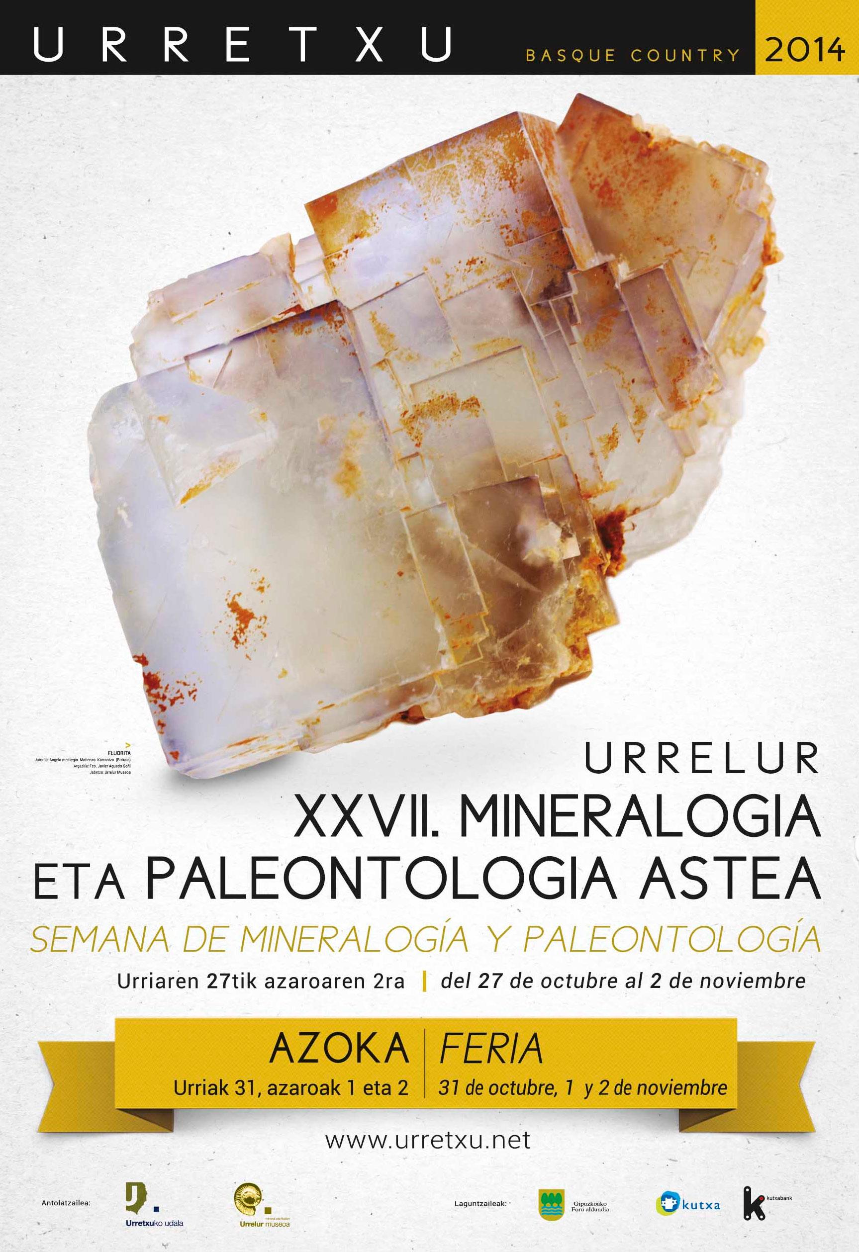 """""""Urrelur"""" Mineralogi eta Paleontologiaren XXVII. Astearen kartela"""
