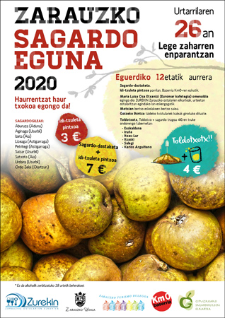 Cartel del Sagardo Eguna de Zarautz 2020