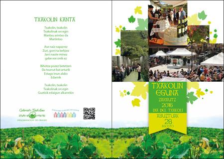 Cartel del Día del Txakolí de Zarautz 2016