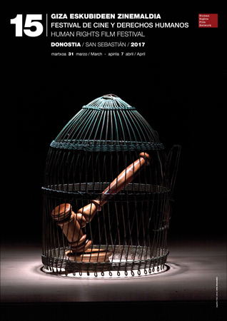 Cartel del Festival de Cine y Derechos Humanos de Donostia 2017