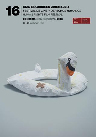Cartel del Festival de Cine y Derechos Humanos de Donostia 2018