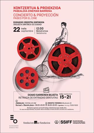Cartel del concierto de la Orquesta Sinfónica de Euskadi