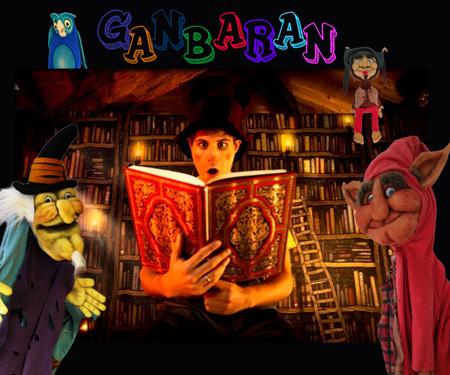 """""""Ganbaran"""" antzezlanaren kartela"""