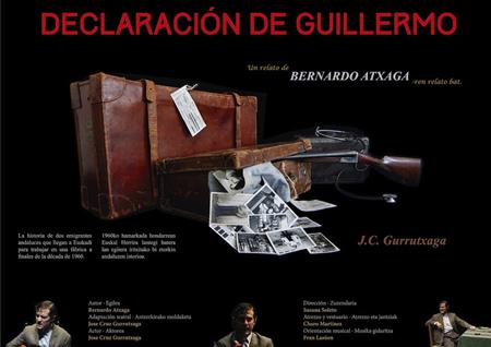 """""""Declaración de Guillermo"""" antzezlanaren kartela"""