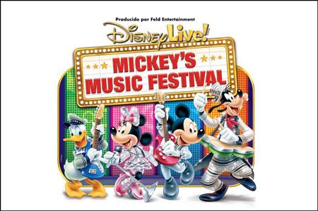 """Cartel del espectáculo """"Disney Live! Mickey`s Music Festival"""""""