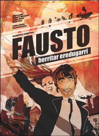 """""""Fausto, herritar eredugarri"""" antzezlanaren kartela"""