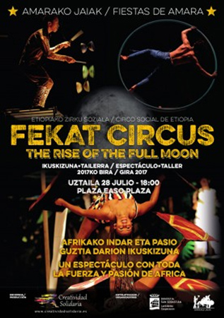 """The Rise Of The Full Moon"" ikuskizunaren kartela"