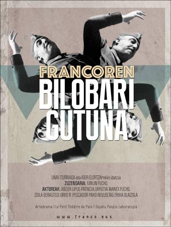 """Kartel de la obra """"Francoren bilobari gutuna"""""""