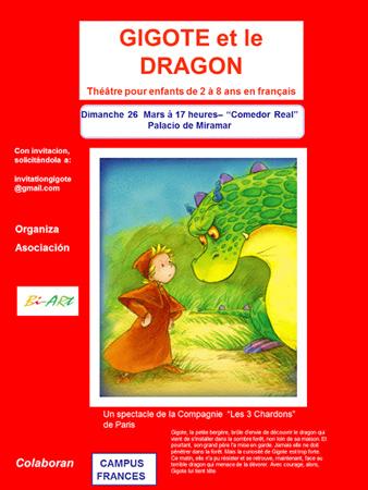 """Momento de la obra """"Gigote et le dragon"""""""