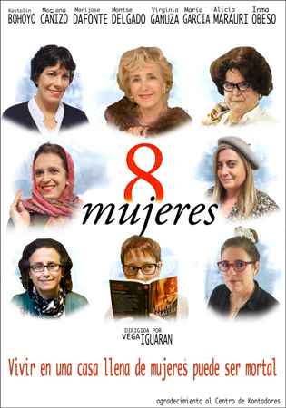 """Ocho mujeres"" antzezlanaren kartela"