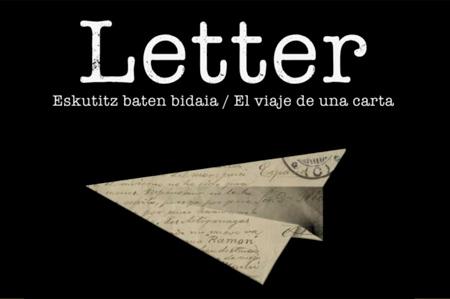 "Cartel del espectáculo ""Letter eskutitz baten bidaia"""
