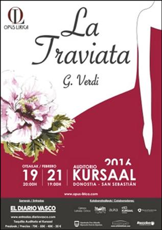 """Cartel de la ópera """"La Traviata"""""""
