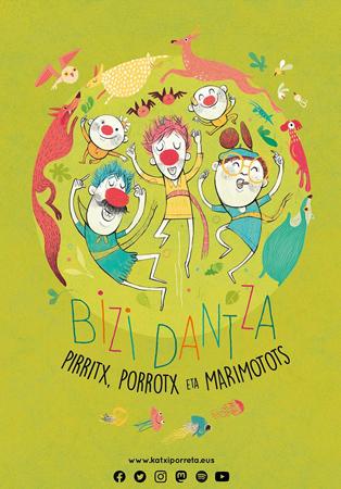 """Cartel del espectáculo """"Bizi Dantza"""""""