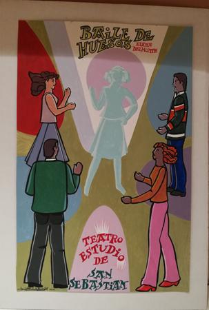 """Cartel de la obra """"Baile de huesos"""""""