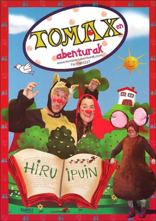 """Cartel del espectáculo """"Hiru ipuin, hamaika irri"""""""