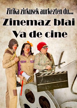 "Cartel de la obra ""Zinemaz blai"""